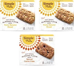 product image for Simple Mills, Snacks Variety Pack, Nutty Banana Bread, Spiced Carrot Cake Variety Pack, Great for Stocking Stuffers, 3 Count (Packaging May Vary)