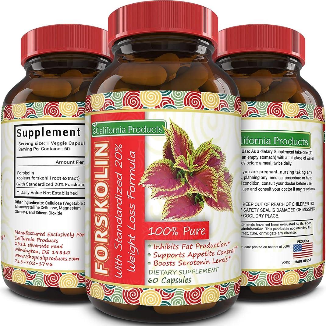 幻想的刺繍ビット100% Pure Forskolin Extract 60 Capsules