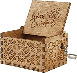 Image of Wood Merry Christmas Music Box