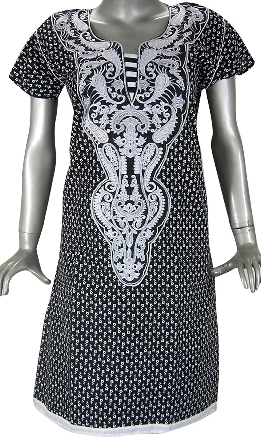 Embroidered Cotton Tunic Top Women India Clothing