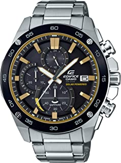 Men's Edifice Quartz Watch with Stainless Steel Strap, Silver, 21.6 (Model: EFS-S500DB-1BVCR)