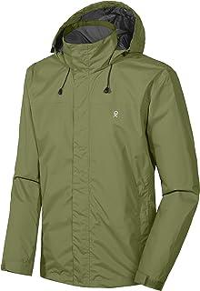 Men's Waterproof Rain Jacket Outdoor Lightweight Rain Shell Coat for Hiking, Travel