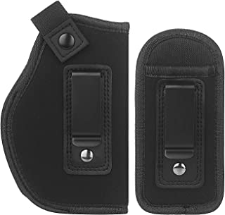 LIRISY Inside The Waistband Holster | Gun Concealed Carry IWB Holster | Fits S&W M&P Shield/Glock 19 26 27 29 30 33 42 43 / Ruger LC9 & All Similar Handguns