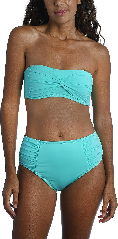 La Blanca Women's Standard Island Goddess Knot Twist Bandeau Bikini Swimsuit Top