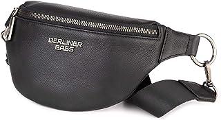 Berliner Bags Premium Bauchtasche Mona Fanny Pack aus Leder Umhängetasche Damen Herren Schwaz