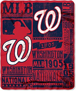 The Northwest Company MLB Men,Unisex-Adult,Women MLB Strength Printed Fleece Throw, 50-inch by 60-inch