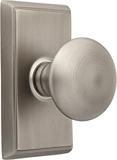 Providence Door Set with Round Brass Knobs Double Dummy in Antique Pewter. Doorsets.