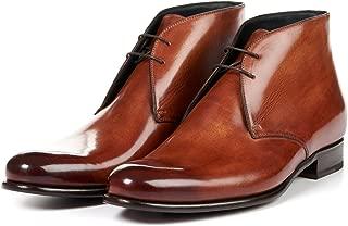 Paul Evans Men's Newman Chukka Boots, Italian Calfskin Leather Dress Shoes