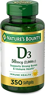 Vitamin D by Nature's Bounty for Immune Support. Vitamin D Provides Immune Support and Promotes Healthy Bones. 2000IU, 350...