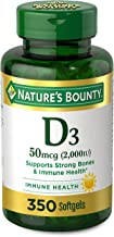Vitamin D by Nature's Bounty for Immune Support. Vitamin D Provides Immune Support and Promotes Healthy Bones. 2000IU, 350...
