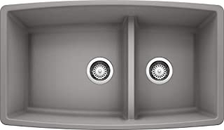 Blanco 441309 Performa 1.75 Medium Bowl Sink, Metallic Gray