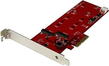 StarTech.com 2x M.2 SATA SSD Controller Card - PCIe - PCI Express M.2 SATA III Controller - NGFF Card Adapter (PEX2M2)