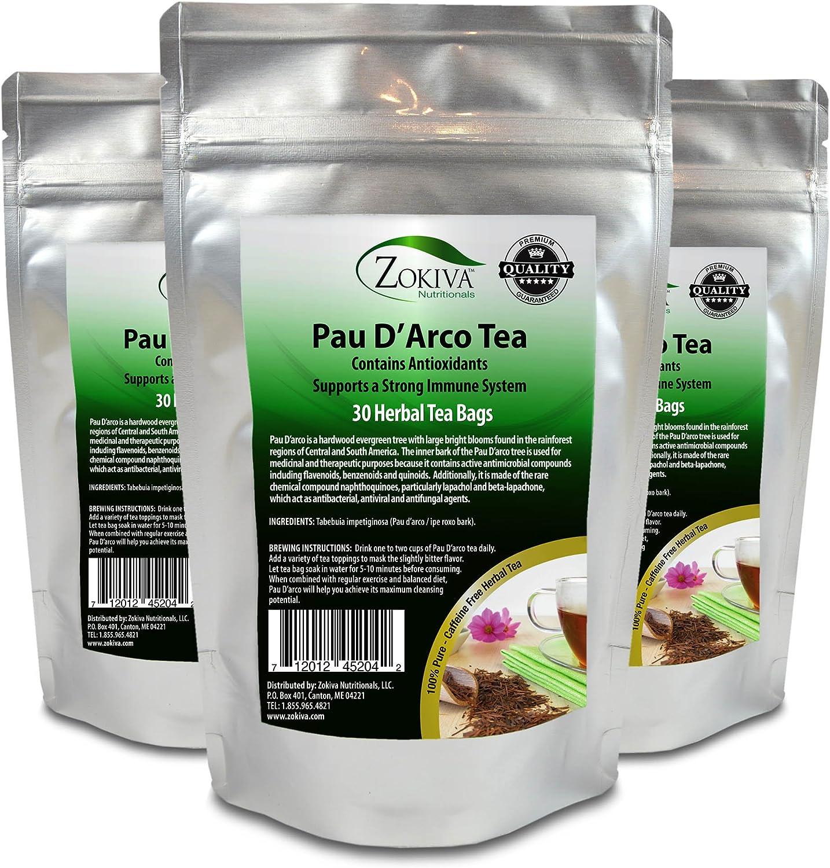 PAU D'Arco Sacramento Mall Tea 3-Pack 100% Pure 90 All-Natural Bags Now free shipping Im Premium