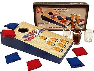 Party Drinking Games, Shot Glass Basketball, Shot Glass Corn Hole Toss, Spin The Arrow Shot Glass Game, Hammer Shot Glass Party Game (Corn Hole Shot Glass)