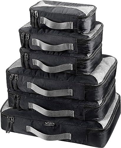 G4Free 3/6/7pcs Organisateurs de Bagage Sacs de Rangement Valise pour Voyage Maquillage