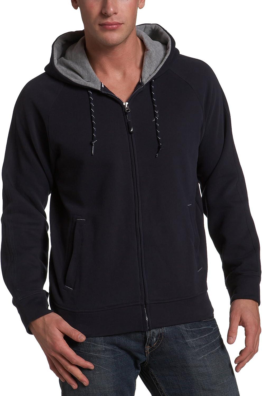 Nautica Men's Brushed Fleece Hooded Full Zip Knit Jacket
