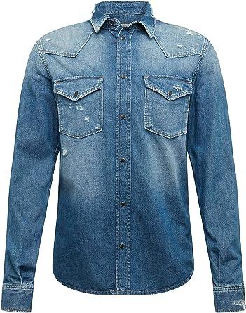 Pepe Jeans Camisa Noah Denim Azul Hombre: Amazon.es: Ropa