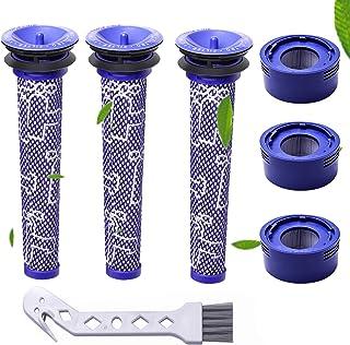 Filtre pour Dyson,filtres de Rechange pour aspirateur Dyson V7 et V8 Absolute et Animal, 3 Post-filtres HEPA, 3 pré-filtre...