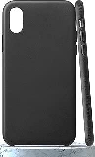 LONLI Classic | iPhone Xs Max Genuine Nappa Leather Case - Black
