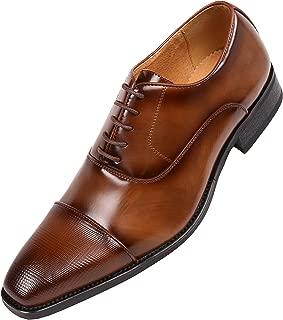 The Original Men's Smooth Faux Leather Cap Toe Oxford Dress Shoes