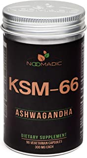 KSM-66 Ashwagandha (Withania somnifera), 90 Capsules | 300mg Each, Full Spectrum Root Extract, 5% Withanolides, Supports Natural Anxiety Relief, Thyroid, Stress, Sleep, Memory, Energy & Focus.