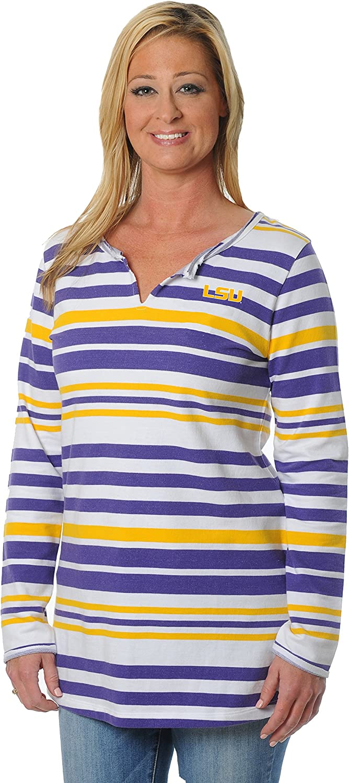 NCAA Women's Striped Tunic Fleece Top