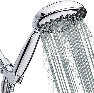High-Pressure Handheld Shower Head 6-Setting – 5-inch Handheld Rain Shower head..