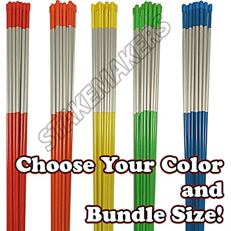 5//16 inch 48 inches Rods Stakes Snow Poles The ROP Shop Pack of 100 Driveway Markers