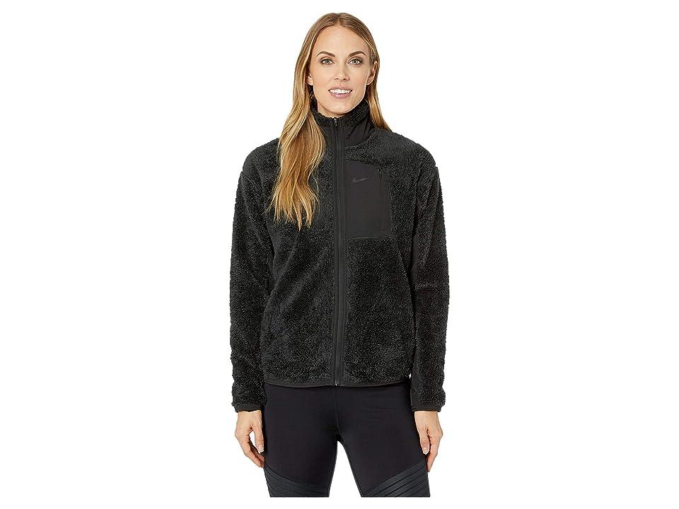 Nike Long Sleeve Full-Zip Training Top (Black/Black) Women