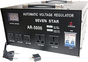 SEVENSTAR AR 5000W Heavy Duty Voltage Reglator/Stabilizer with Built-in Step Up/Down Voltage Transformer