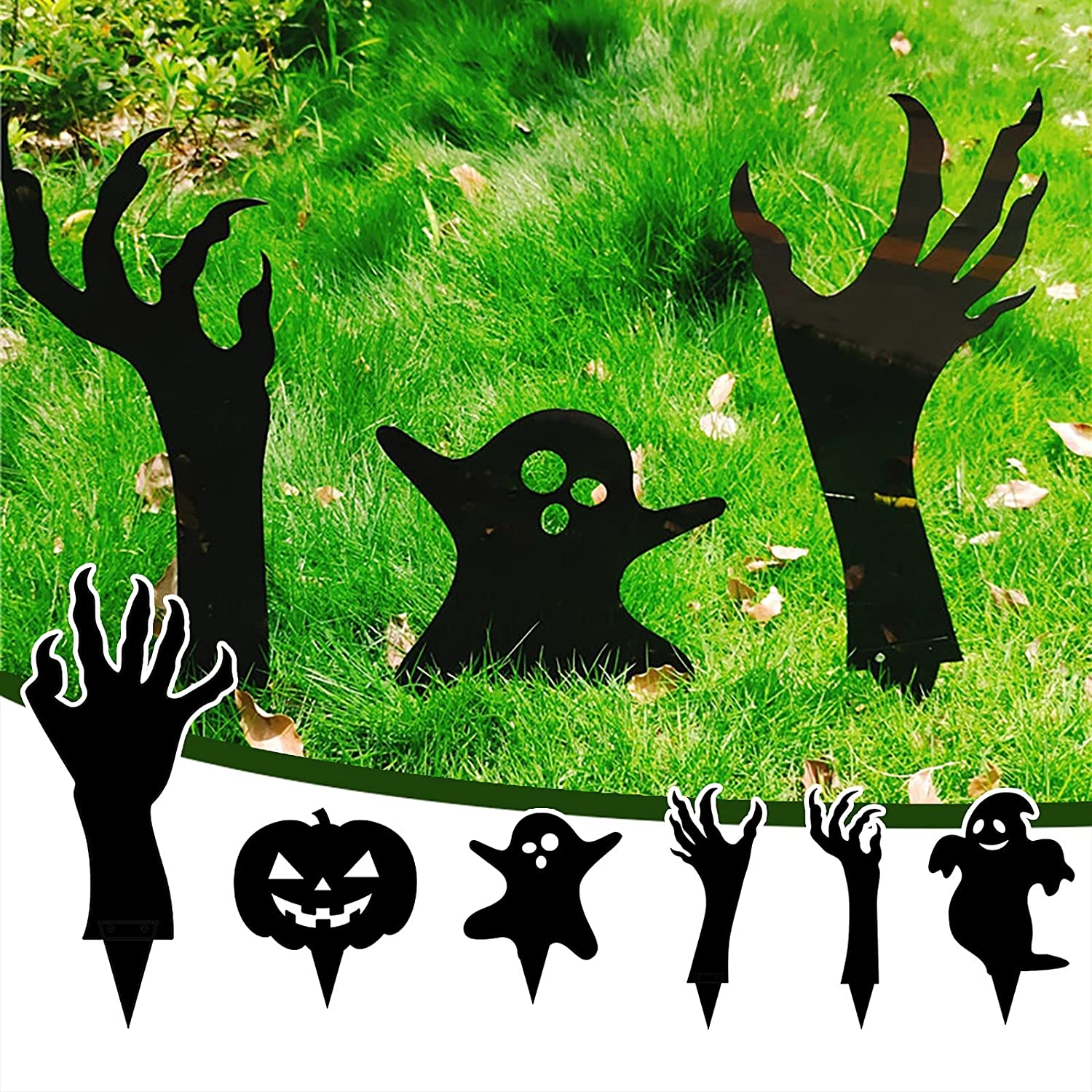 Loosebee It is very popular Halloween Pumpkin Ghost with Statue Decorations discount Stake