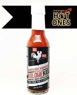 Adoboloco KoloheKid Hawaiian & Ghost Pepper Hot Sauce - 5 Ounce Bottle (Hot - NOT SUPER HOT) - Featured on Hot Ones Season 8