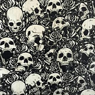 Rose Skull Print - with 6oz. Activator Hydro Film Dip Kit Hydrographics Film - Hydro Dip Film - Hydrographic Film - Water Transfer Printing - Hydro Dipping