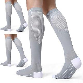 CELERSPORT 3 Pairs Compression Socks 20-30mmHg for Men and Women Nursing Socks