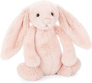 Jellycat Bashful Blush Bunny Chime Rattle Stuffed Animal, 10 inches