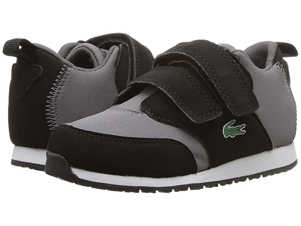 Lacoste Kids L.Ight 318 (Toddler/Little Kid) (Black/Dark Grey) Kid