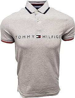 Mens Embroidered Graphic Logo Mesh Polo Shirt