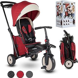 smarTrike STR5 7-in-1 Folding Baby Tricycle, Red Melange (Model: 5055500)
