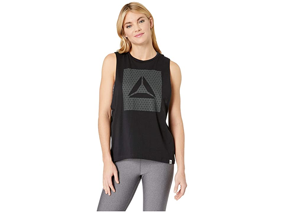 Reebok Gs Shine Delta Muscle Tank (Black) Women