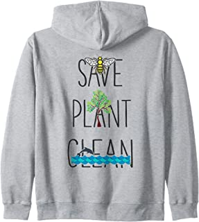 Save Bees, Plant Trees, Clean The Seas - Nature Environment Zip Hoodie