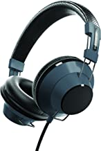 Sharper Image SHP55GY Stereo Headphones with Microphone, Premium Sound, Tangle-Free Fabric Cord, Grey