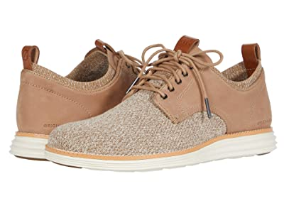 Cole Haan Original Grand Stitchlite Saddle Ox (Amphora Knit/Nubuck/Ivory) Men