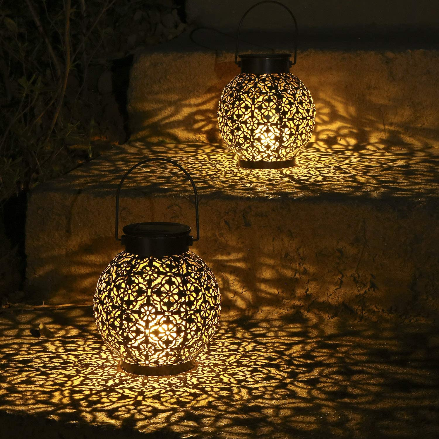 2 Pack Solar Chicago Mall Lanterns Outdoor Hanging Tomshin-e ! Super beauty product restock quality top!