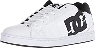 DC Men's NET SE Skate Shoe, white/white/black, 12 Medium US