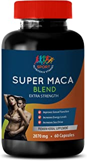 Male Enhancing Pills Sex Drive - Super MACA Blend 2070 MG - Extra Strength - maca Root Capsules - 1 Bottle 60 Capsules