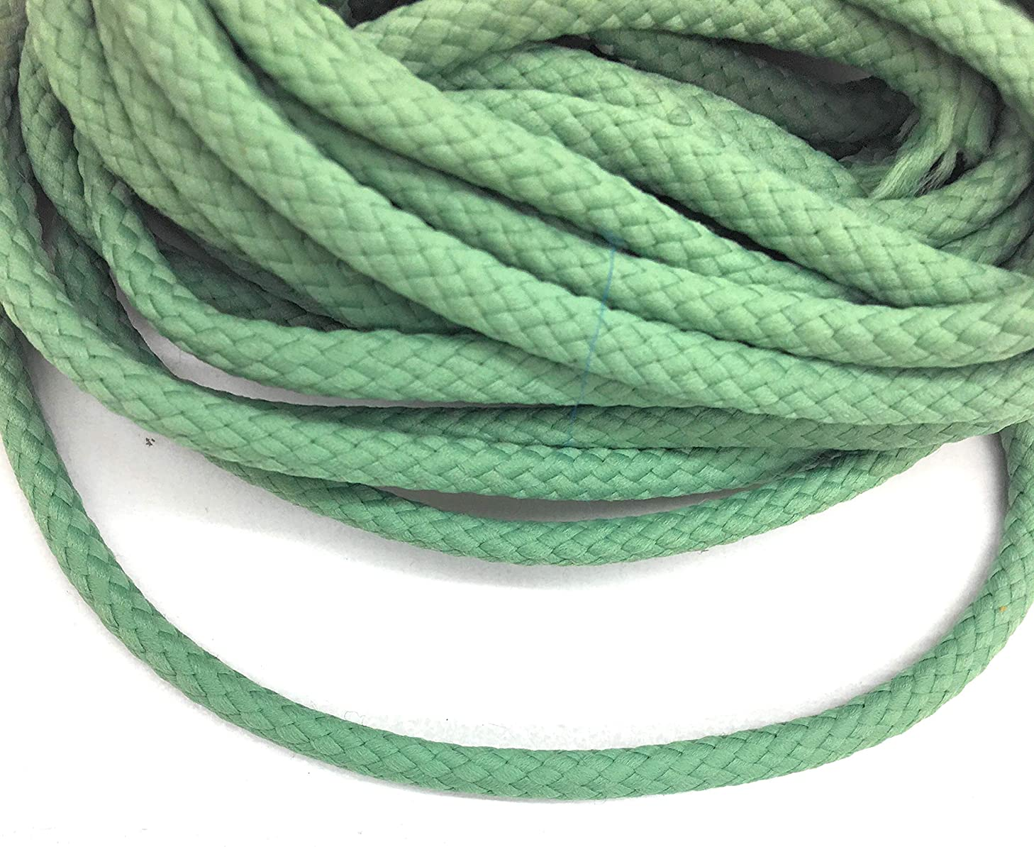 Weave Celadon Green Cord Trims 1/4'' (6mm) Decortive Green Rope 5 Yards