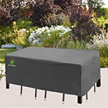 Patio Table Covers for Outdoor Furniture, UV Resistant Waterproof Snow Protection for Rectangular/Oval Dining Tables, 74 x...
