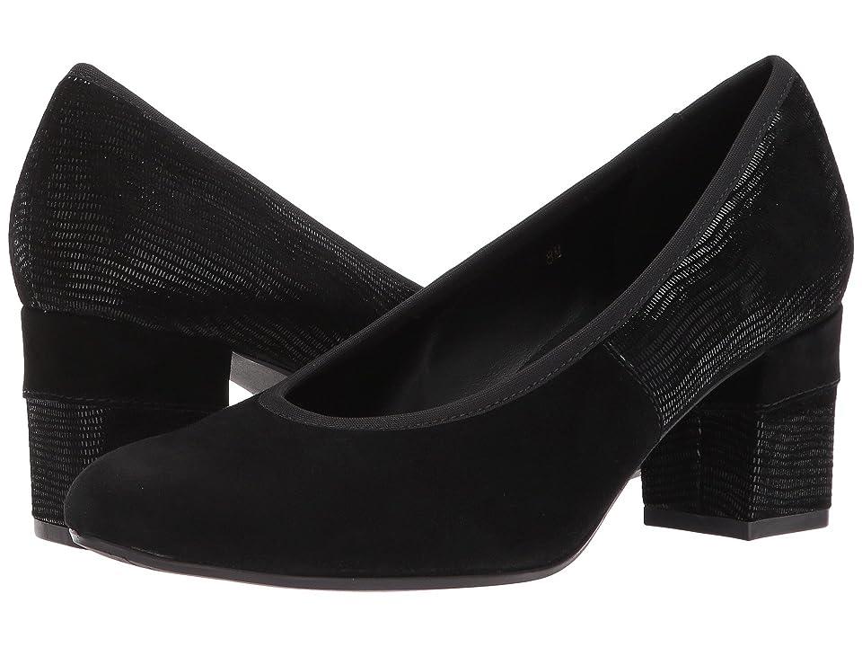 Vaneli Debora (Black Suede/Black Miniliz Print/Black Elastic) Women