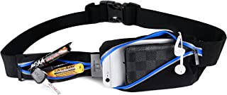 SoJourner Bags Men's Waterproof Reflective Jogging Workout Running Belt Waist Bag Belt Pouch - Fits iphone 7, 7+ and Galaxy Plus