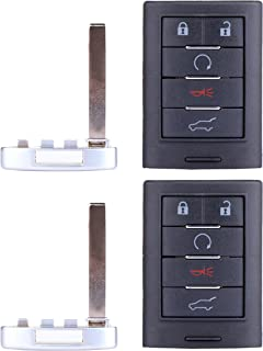 ECCPP Replacement fit for Uncut 315MHz Keyless Entry Remote Key Fob Cadillac SRX/ATS/ELR/XTS NBG009768T (Pack of 2) photo